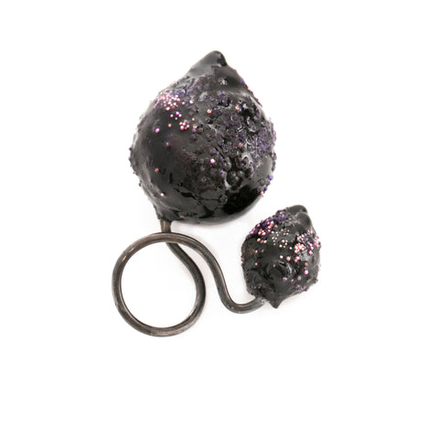 Purple Duo Ring by Cleopatra Cosulet - Art Jewellery Store: Song of Jewellery