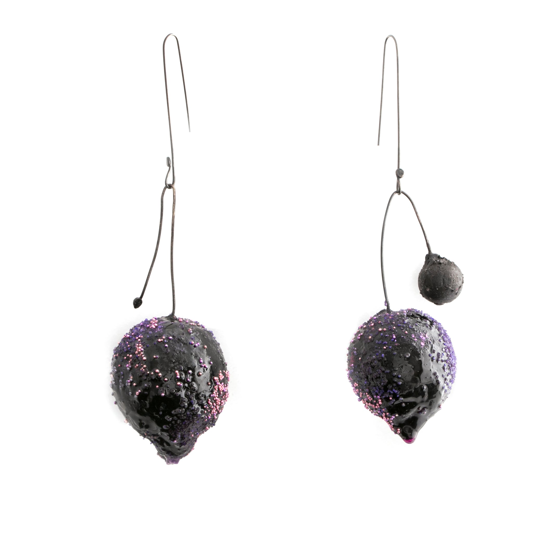 Purple Art Earrings by Cleopatra Cosulet - Art Jewellery Store: Song of Jewellery