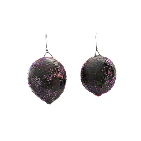 Purple Oversized Art Earrings
