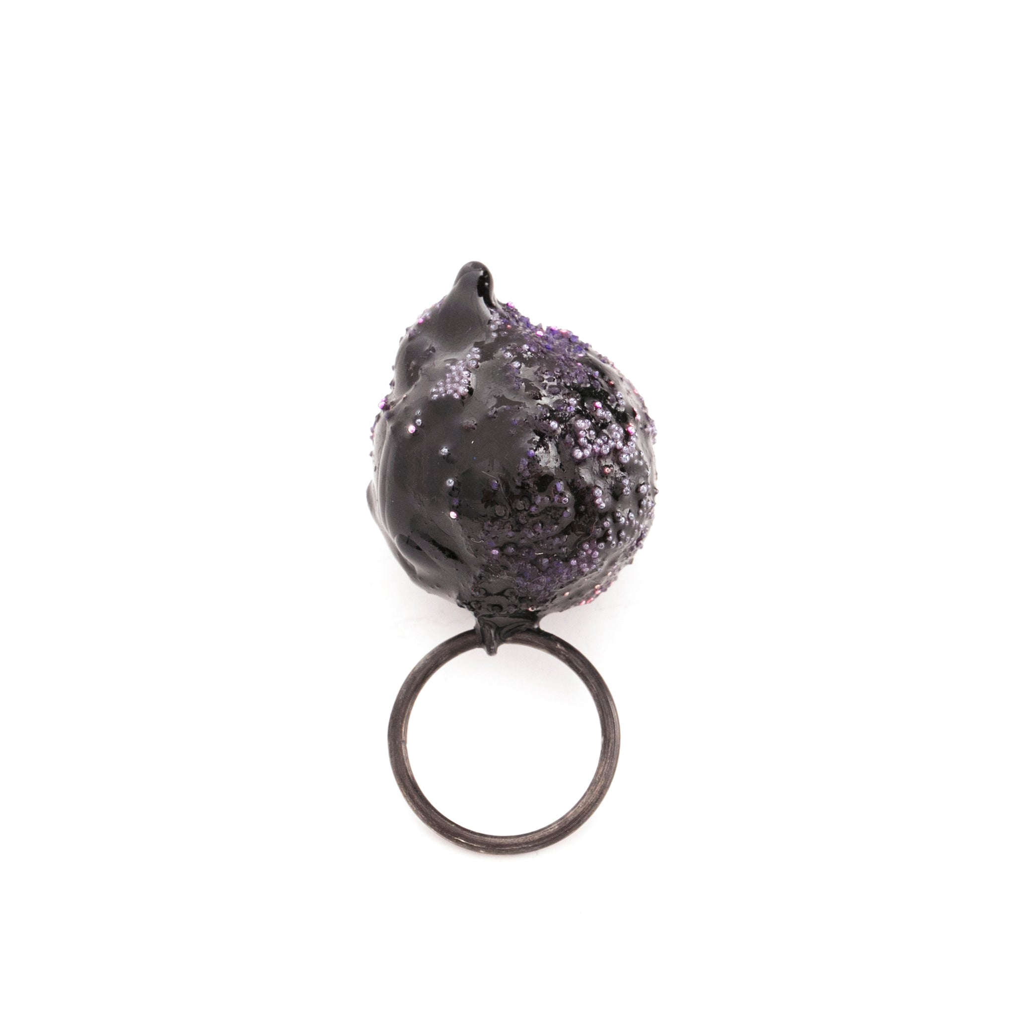Purple Art Ring by Cleopatra Cosulet - Art Jewellery Store: Song of Jewellery