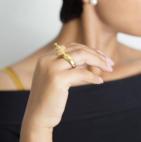 Mystic Palm Ring by Rokus - Art Jewellery Store: Song of Jewellery