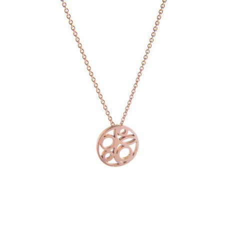 9ct Rose Gold Flow Necklace by Miriam Wade - Art Jewellery Store: Song of Jewellery