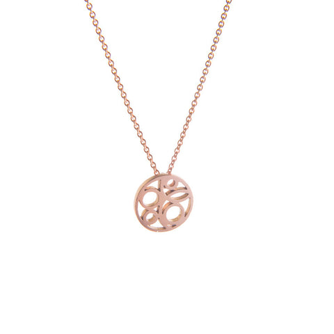 9ct Rose Gold Flow Necklace