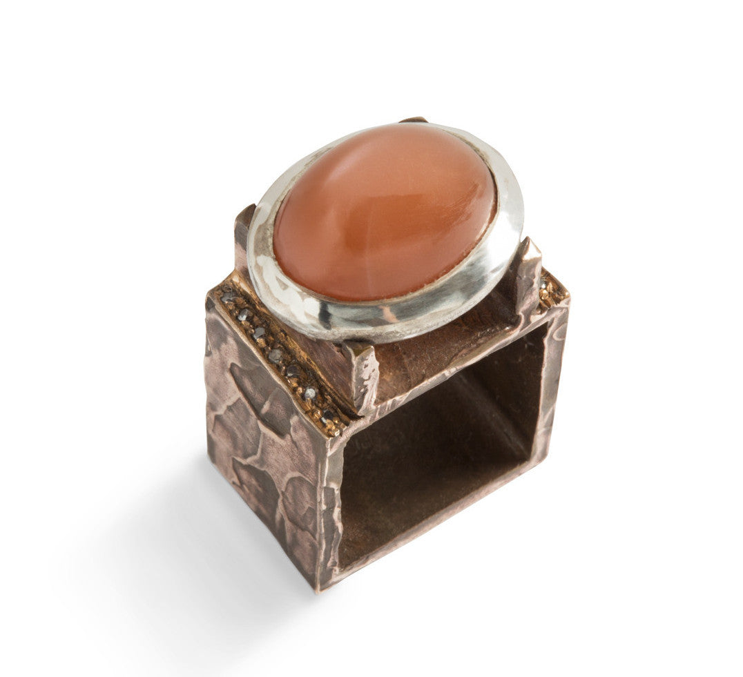 Big Square Ring by Simone Vera Bath - Art Jewellery Store: Song of Jewellery