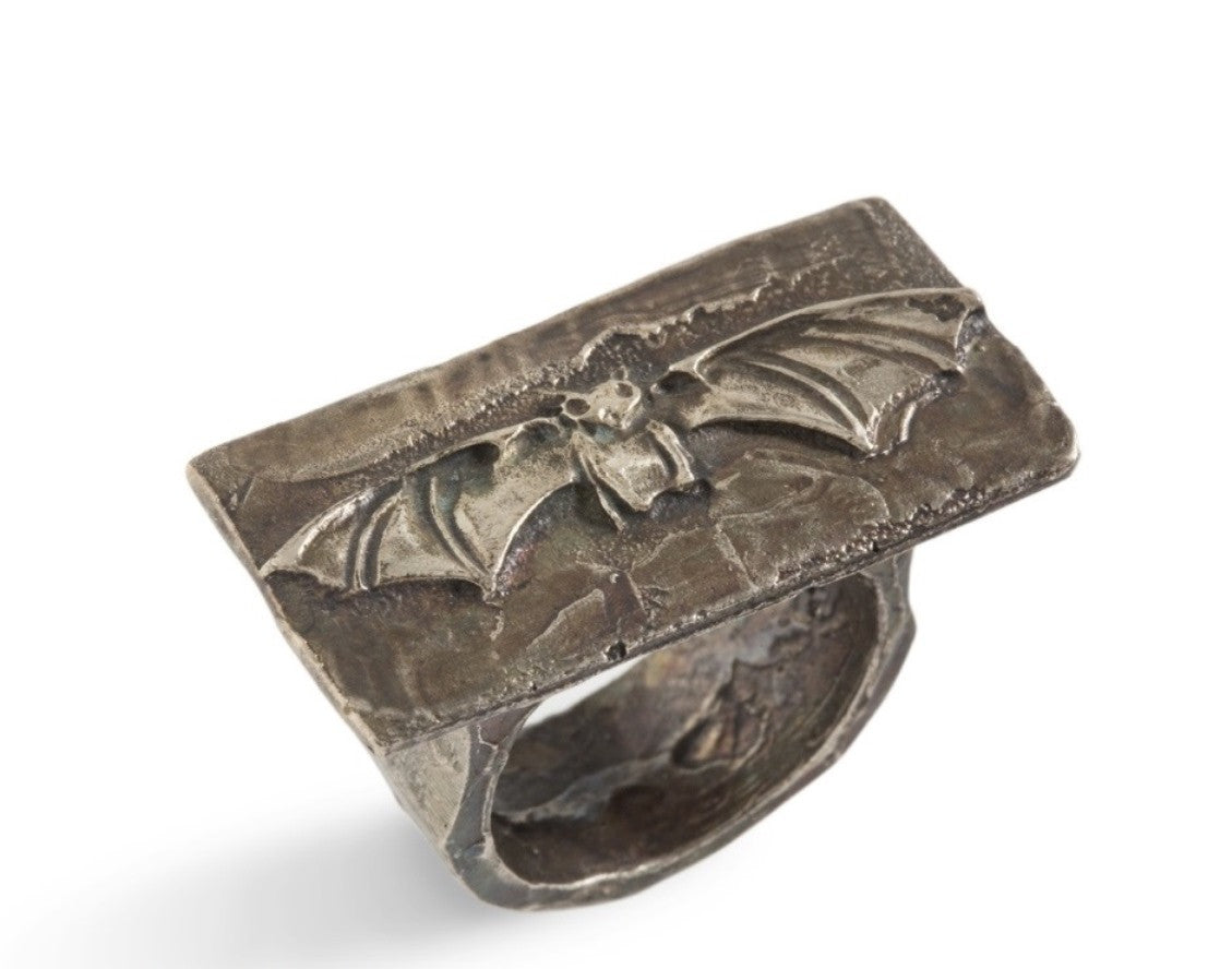 Dracula Ring In Sterling Silver