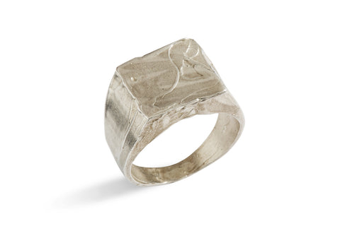 Seal Ring with Roman Characters in Silver or Bronze by Simone Vera Bath - Art Jewellery Store: Song of Jewellery