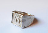 Seal Ring with Roman Characters | Initial Engraved Ring