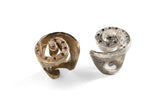 Shell Ring in Silver or Bronze by Simone Vera Bath - Art Jewellery Store: Song of Jewellery