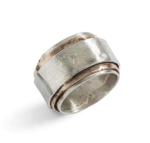 Slide Ring in Silver and Bronze