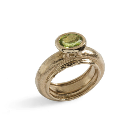 Fedone Gemstone Ring in Bronze or Silver - Oval