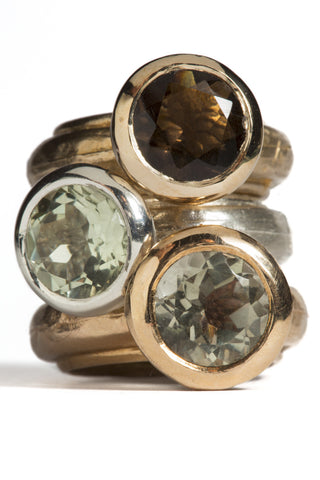 Fedone Ring in Bronze or Silver - Round by Simone Vera Bath - Art Jewellery Store: Song of Jewellery