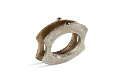 Tribal Ring I in Bronze or Silver