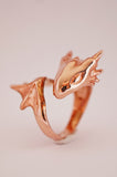 Rose Gold Dragon Ring by Monvatoo - Art Jewellery Store: Song of Jewellery