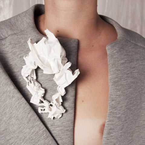 Sculptural Plastic Bag Brooch