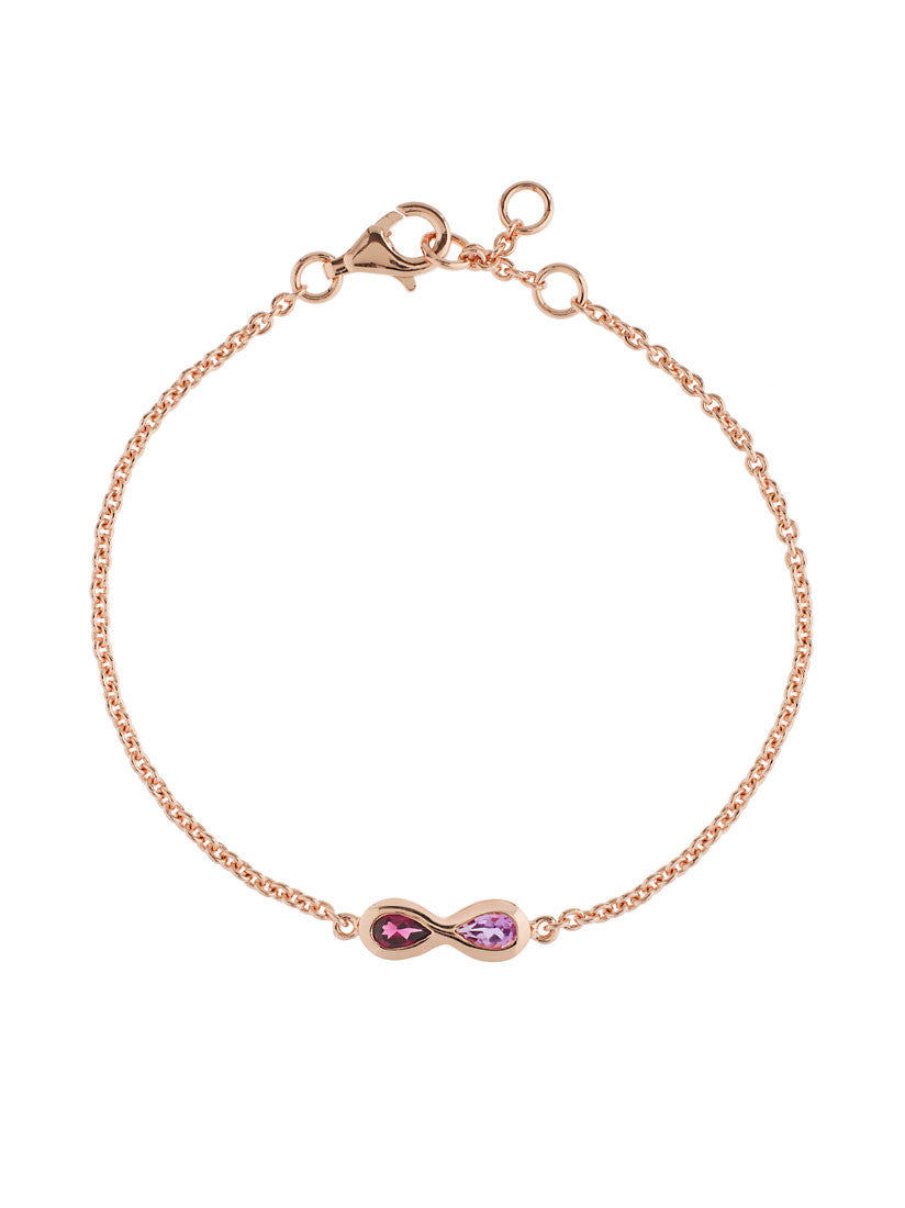 Sempre Rose Gold Plated Gemstone Bracelet by Manja - Art Jewellery Store: Song of Jewellery