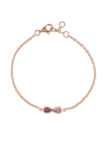 Sempre Rose Gold Plated Gemstone Bracelet