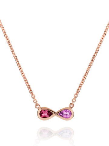 Sempre Rose Gold Plated Gemstone Necklace