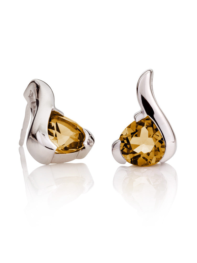 Sensual Citrine Gemstone Earrings