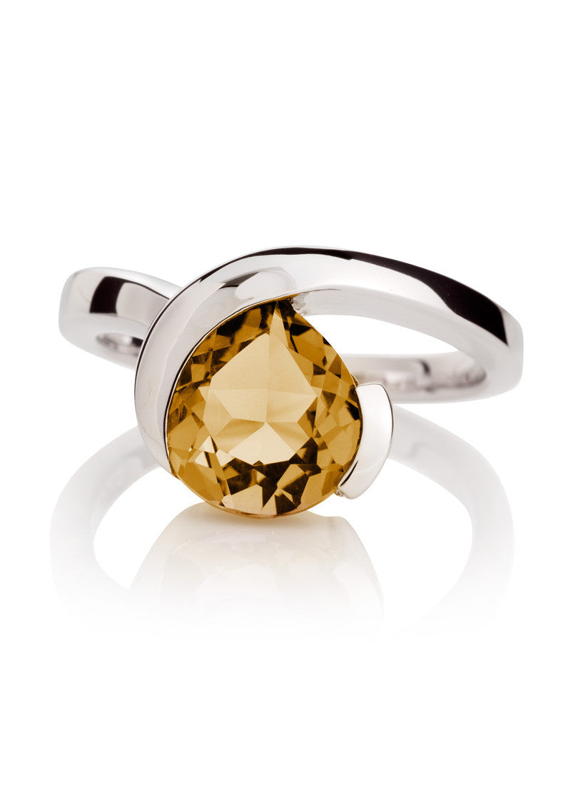 Sensual Citrine Ring by Manja - Art Jewellery Store: Song of Jewellery
