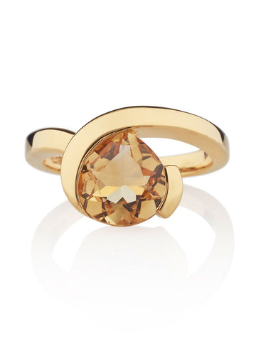 Sensual Gold Citrine Ring