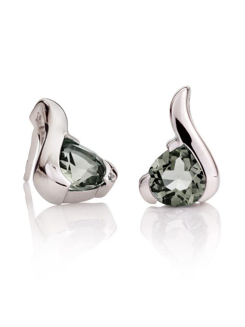 Sensual Green Amethyst Gemstone Earrings by Manja - Art Jewellery Store: Song of Jewellery