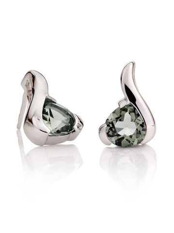 Sensual Green Amethyst Gemstone Earrings