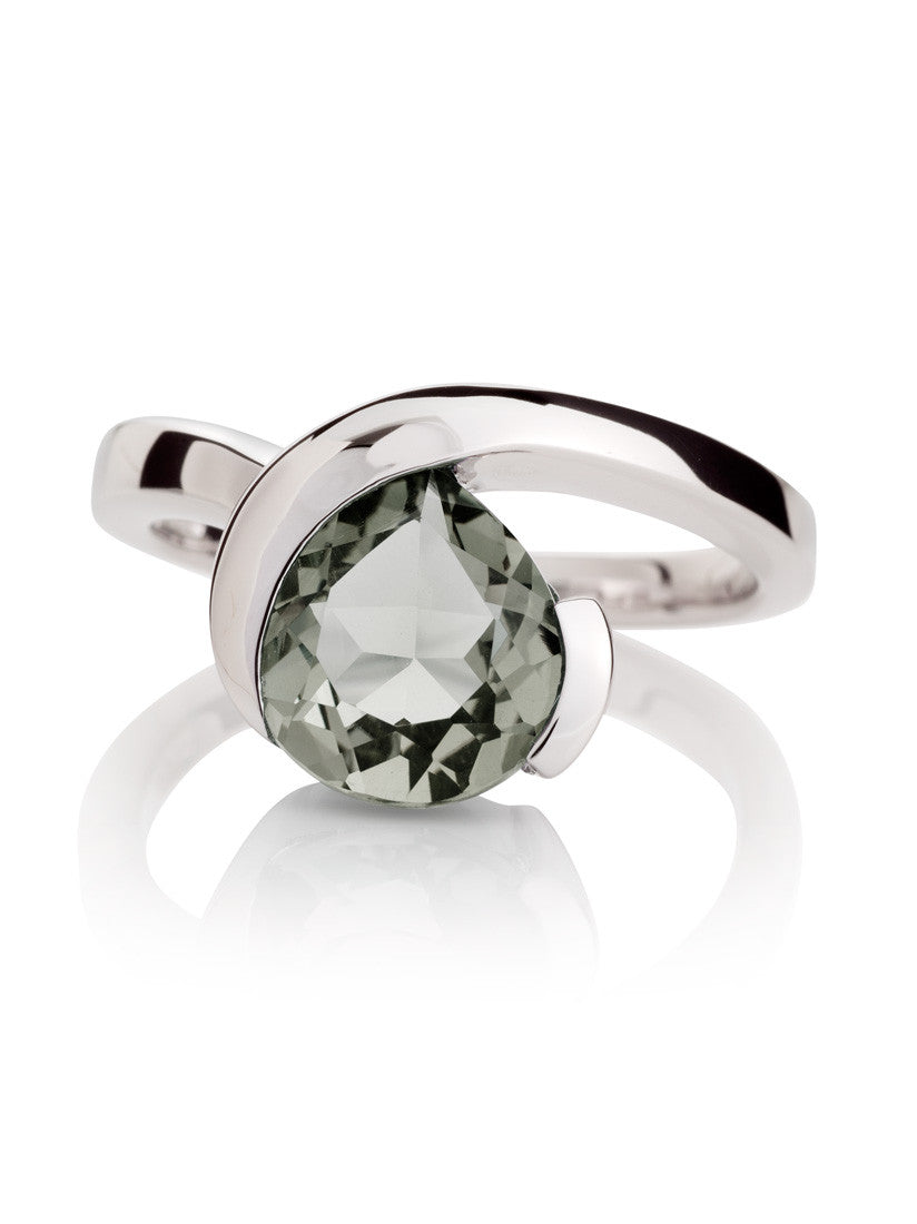 Sensual Green Amethyst Ring by Manja - Art Jewellery Store: Song of Jewellery