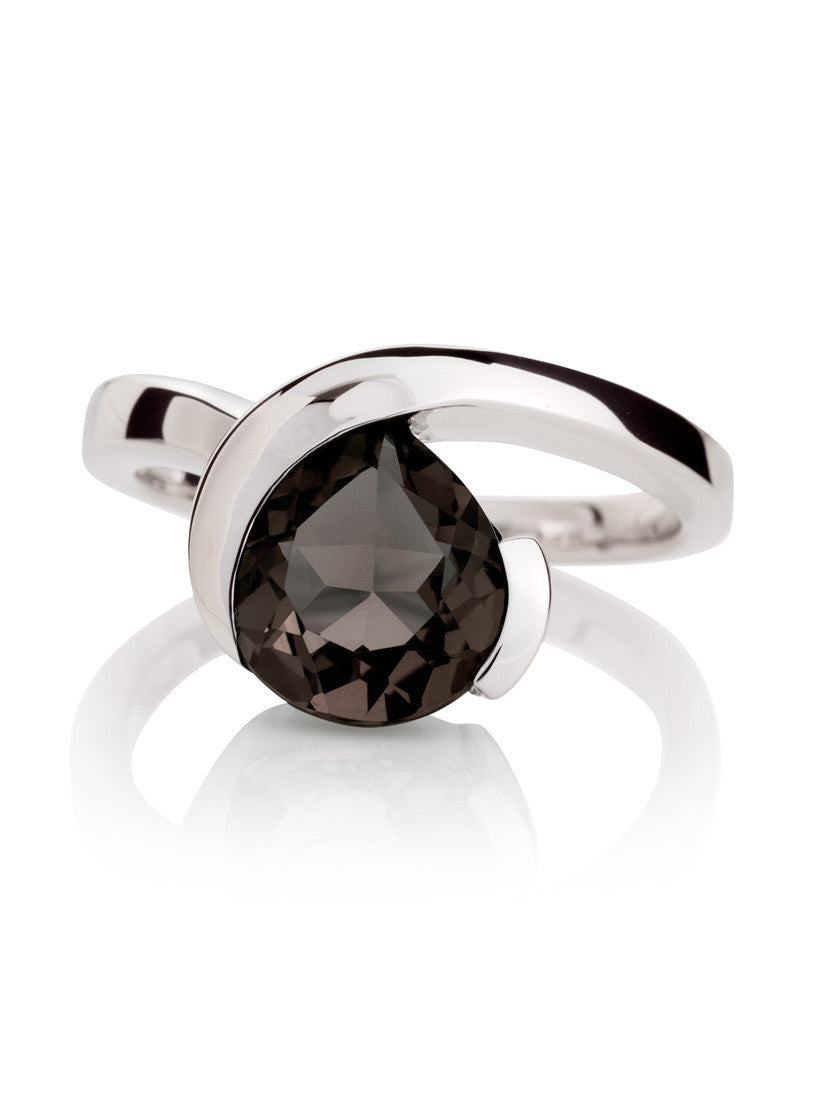 Sensual Smoky Quartz Ring by Manja - Art Jewellery Store: Song of Jewellery