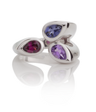 KAZO Silver Mixed Gemstone Ring (ARI) by Manja - Art Jewellery Store: Song of Jewellery