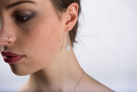 Sterling Silver Flow Long Earrings by Miriam Wade - Art Jewellery Store: Song of Jewellery