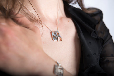 Fusion Square Necklace by Miriam Wade - Art Jewellery Store: Song of Jewellery