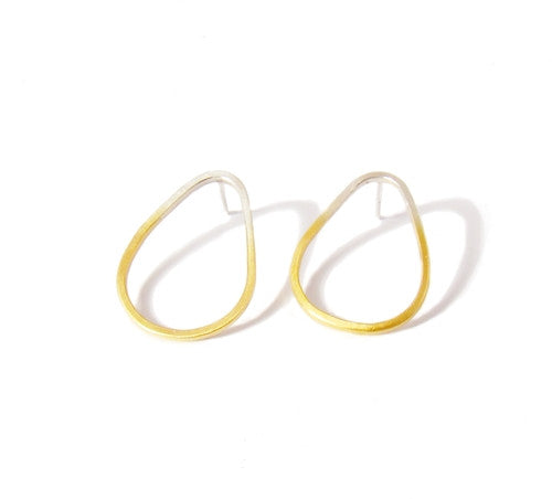 Gold Dipped Thin Ear Studs - Shop British Jewellers UK