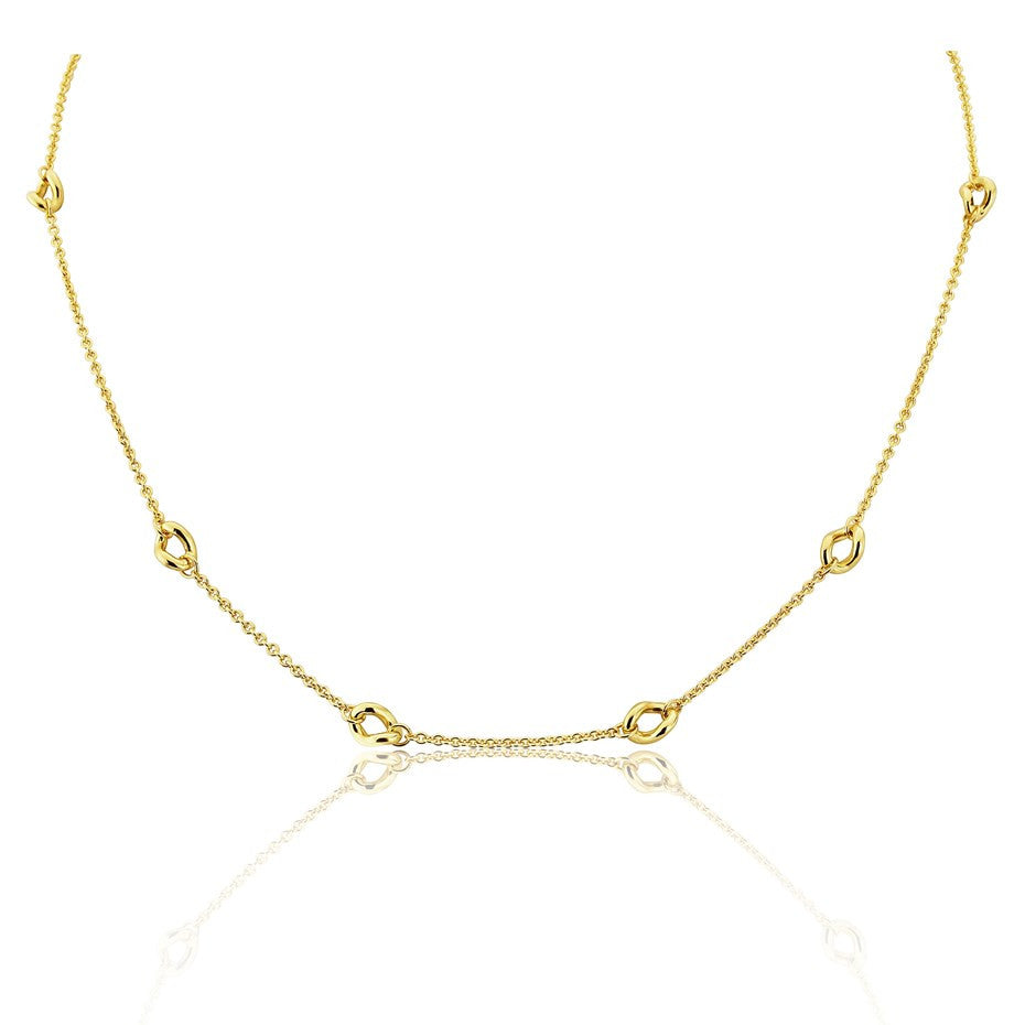 Twisted Ring Necklace in 9ct Gold