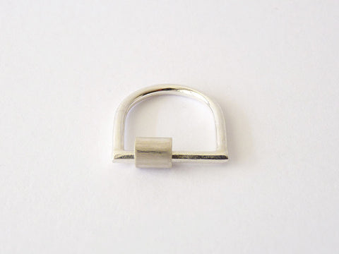 Minimalist Sterling Silver Ring - Tube by Ana Pina - Art Jewellery Store: Song of Jewellery