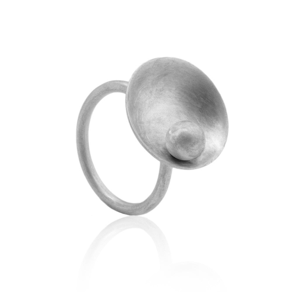 Luz Unusual Round Ball Ring by Kassandra Lauren Gordon - Art Jewellery Store: Song of Jewellery