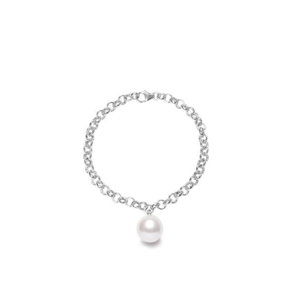 Magna White Pearl Bracelet in Silver or Gold