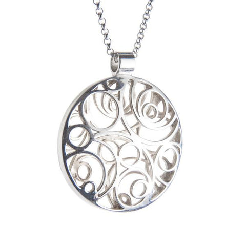 Sterling Silver Double Sided Lios Necklace by Miriam Wade - Art Jewellery Store: Song of Jewellery