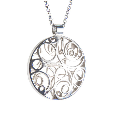 Sterling Silver Double Sided Lios Necklace