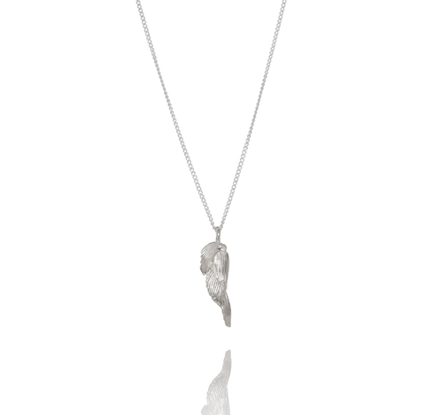 Silver Swan Feather Necklace