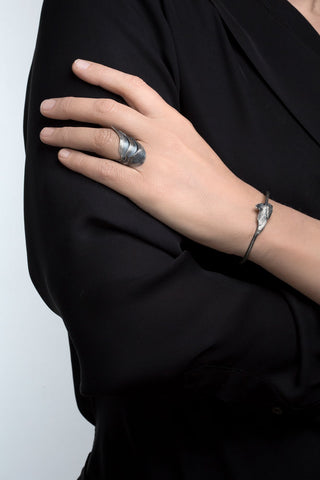 Oxidised Silver Swan Bracelet by Aurum - Art Jewellery Store: Song of Jewellery