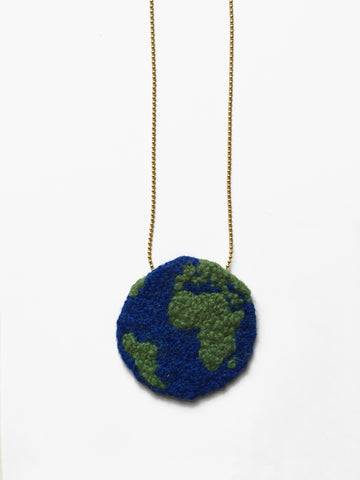 They Mean The World To Me Fabric Necklace