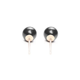 Timeless Pearl Stud Earrings - Medium Black Pearl Studs