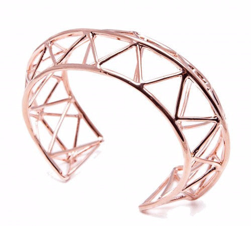 Stunning geometric designer bangle by Italian jewellery label Co.Ro. Jewels.