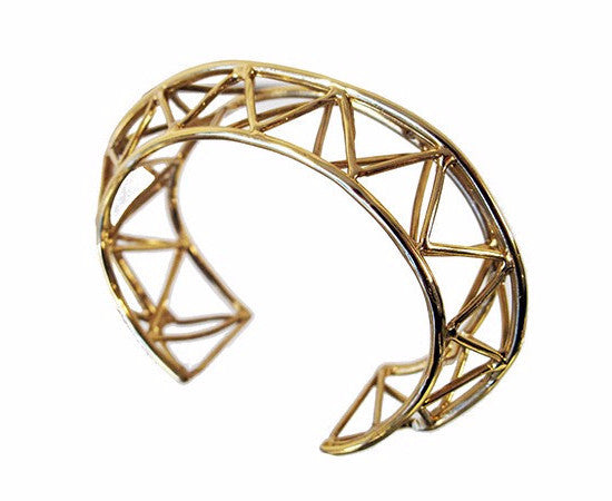 TRAVE Geometric Bangle (Yellow Gold Plated)
