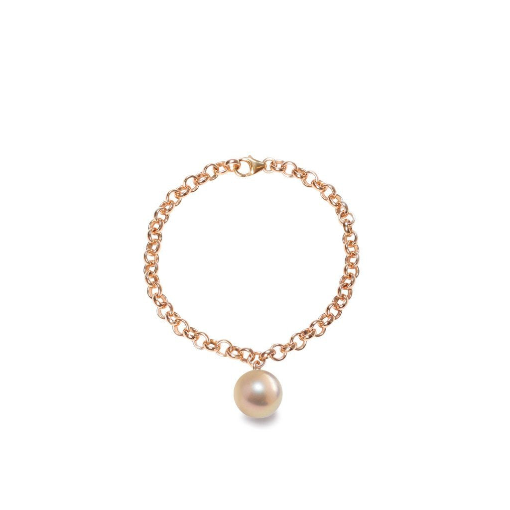 Trendy-chic-ORA-Pearls-chain-bracelet-with-pinky-gold-XXL-pearl-charm