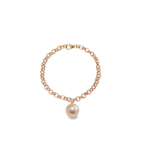 Magna Pinky Gold Pearl Bracelet in Silver or Gold