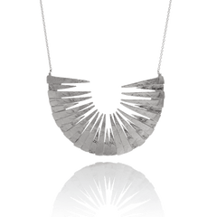 Large silver necklace by Icelandic jeweller Aurum by Guðbjörg.