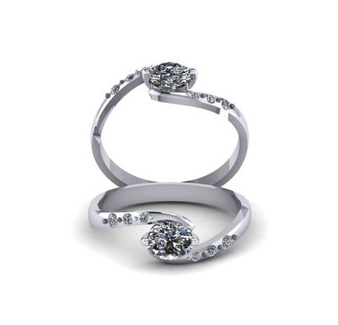 Twist Engagement Ring by Sebastian Pintea - Art Jewellery Store: Song of Jewellery