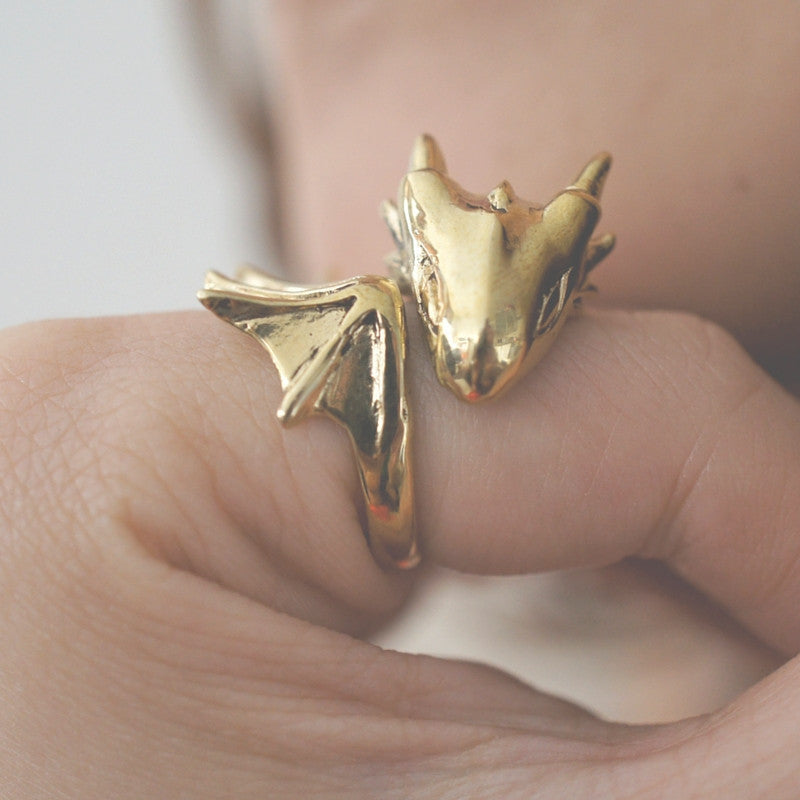 Golden Dragon Ring Animal Ring New British Designers