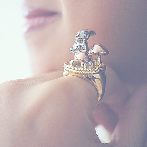 Golden Mix Wild Rabbit Ring